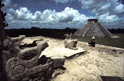 Leandro Katz, 'El Castillo, desde el Templo de los Guerreros [Chichén Itzá]', 1985