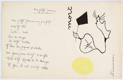 "Joan Miró, '""Il était une petite pie"" (There Was a Little Magpie) – Sheet III', 1928"