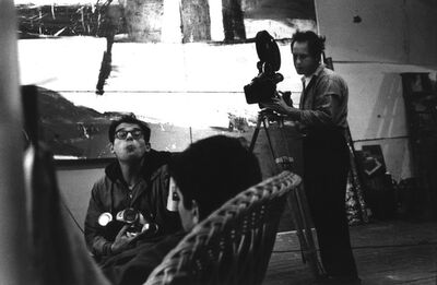 John Cohen, 'Allen Ginsberg with beer, Gregory Corso, Robert Frank Behind the Camera - Pull My Daisy', 1959