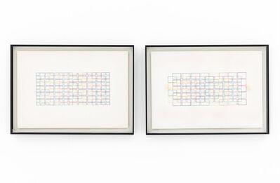 Waldo Balart, 'Estructuras espectro del color: fuerzas de gravedad (left) / Estructuras espectro del color: fuerzas en reposo (right', 1983