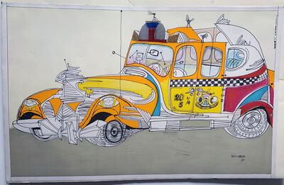 """Saul Steinberg, 'Untitled """"New York Taxi Cab"""" Print by Saul Steinberg', 1948"""