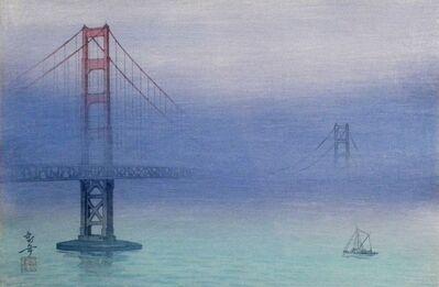 Kakunen Tsuruoka, 'Golden Gate Bridge in Fog ', 1937