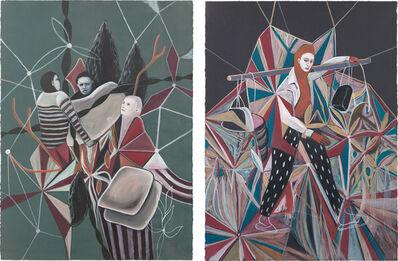 Rodel Tapaya, 'Two Works: (i) Lift; (ii) Door to Door', 2014