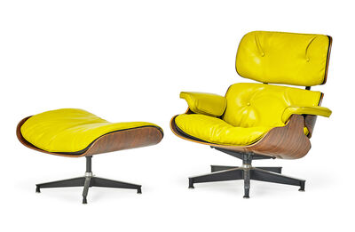 Charles Eames, 'Special-order lounge chair and ottoman (no. 670 and 671), Zeeland, MI', 1950s
