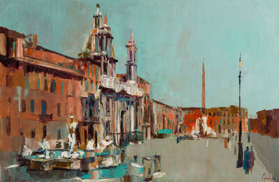 Nicola Simbari, 'Piazza Navona', 1961