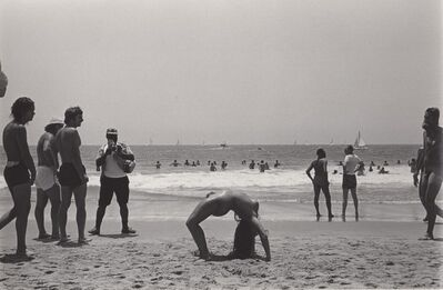 Ed Sievers, 'Untitled (Nude woman in back bend on beach)', 1976
