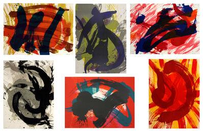 Kazuo Shiraga, ''Eitoku', Enslû', Chikamatsu', 'Buson', 'Kôkan', 'Kuniyosho'', 1990