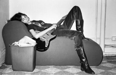 Lynn Goldsmith, 'Patti Smith, Lounge with Guitar 1977', 1977