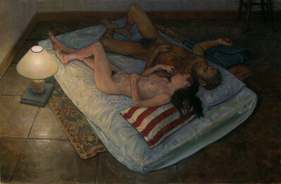 Daniel Dallmann, 'Sleeping Couple with Striped Pillow', 1997