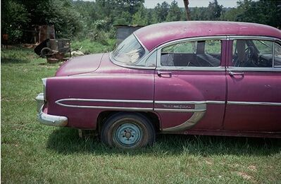 William Christenberry, 'Magenta Car, Havana, Alabama', 1976