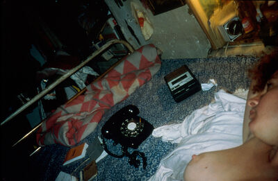 Nan Goldin, 'Self-portrait in bed, NYC', 1981