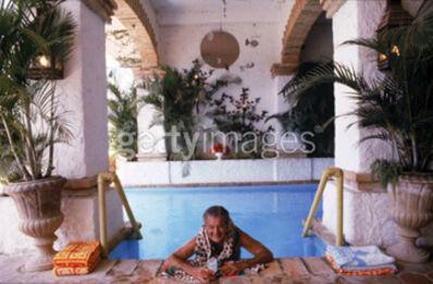 Slim Aarons, 'Paul Bancroft of San Francisco, Pool at Puerto Vallerta, Mexico, 1979 ', 1979
