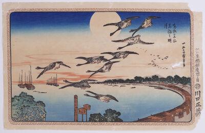 Utagawa Hiroshige (Andō Hiroshige), 'Full Moon at Takanawa', Early 20th Century.