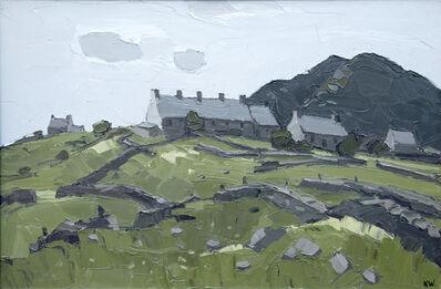 Kyffin Williams, 'Cottages above Rhosgadfan', ca. 2000