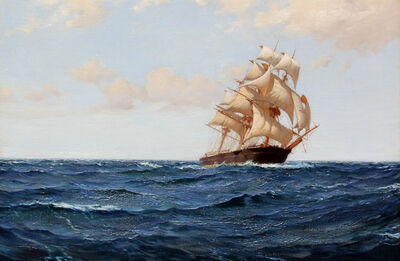 Montague Dawson, 'The Bostonian'