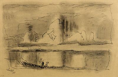 Lyonel Feininger, 'Untitled (Three Children on the Shore)', 1949