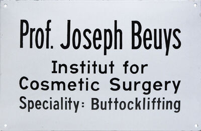 Joseph Beuys, 'Institut for Cosmetic Surgery', 1974
