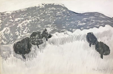 Milton Avery, 'Small Trees, Big Mountains', 1962