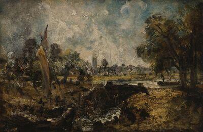 John Constable, 'Dedham Lock', 1819 to 1820
