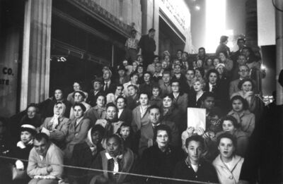Robert Frank, 'Fans at a Movie Premiere. Los Angeles', 1955