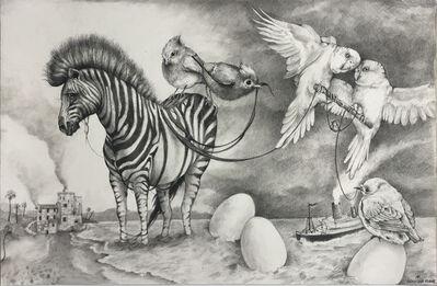 Adonna Khare, 'Zebra and Eggs', 2020