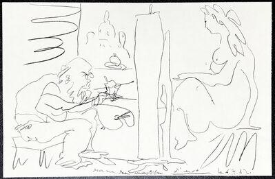 Pablo Picasso, 'Le Peintre et son modele', 1962
