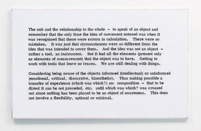Art & Language, 'Painting I, No. 8', 1966