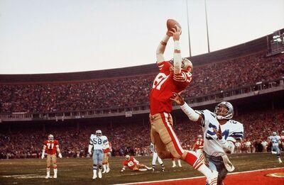Walter Iooss, Jr., 'The Catch, Dwight Clark, San Francisco, CA', 1982