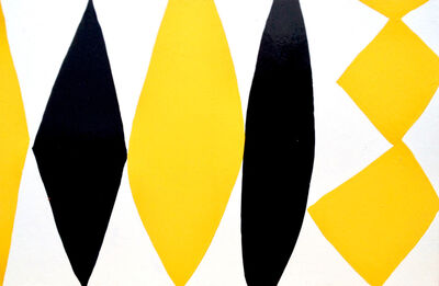 Kim MacConnel, 'Enamel Panel #6 (yellow, white, black)', 2004