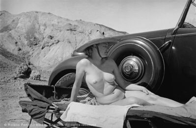 Lee Miller, 'Lee Miller sunbathing nude beside her car, Egypt', 1939
