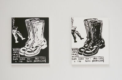 Andy Warhol, 'Paratrooper Boots (Negative); Paratrooper Boots (Positive)', ca. 1985-86
