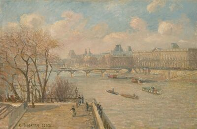 Camille Pissarro, 'The Louvre from the Pont Neuf', 1902