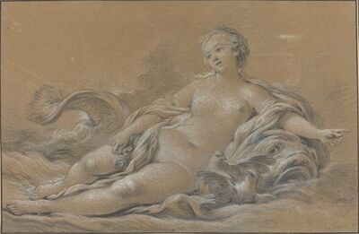François Boucher, 'Venus Reclining on a Dolphin', ca. 1745