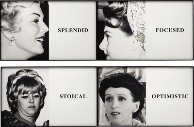 John Baldessari, 'Prima Facie: Splendid/Focused/Stoical/Optimistic', 2005