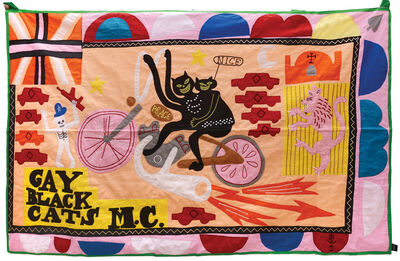 Grayson Perry, 'Gay Black Cats Motorcycle Club', 2017