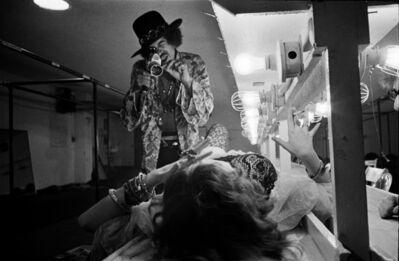 Jim Marshall, 'Jimi Hendrix Filming Janis Joplin Backstage Winterland, San Fransisco, 1968', 2017