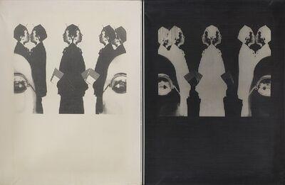 Aldo Tagliaferro, 'Donna + ragazzi + retino - positivo - negativo', 1970-72
