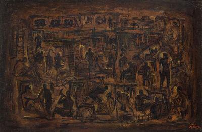 Hung Rui-Lin 洪瑞麟, 'Exalting the Miners', 1966