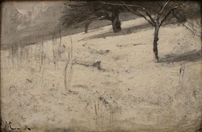 J. Francis Murphy, 'Winter Hillside', 1885
