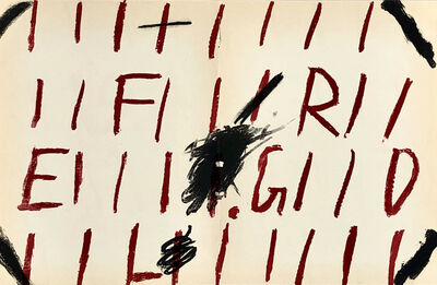 Antoni Tàpies, '1960s Antoni Tàpies lithograph (Tàpies prints)', 1969