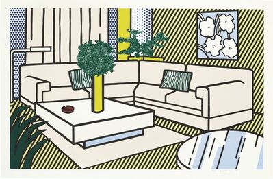 Roy Lichtenstein, 'Yellow Vase, from Interior Series', 1990