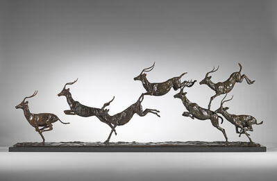 Mark Coreth, 'Leaping Impala group', 2017