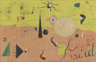 Joan Miró, 'The Hunter (Catalan Landscape). Montroig', July 1923 -Winter 1924