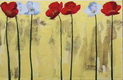 Pedro Ruiz, 'Poppies', 2019