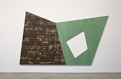 Robert Mangold, 'Brown Ellipse/Gray Green Frame', 1988-1989