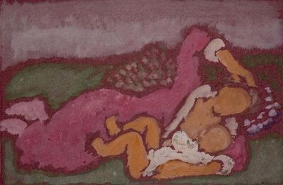 Harold Weston, 'Nursing on Couch', 1928
