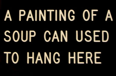 William Anastasi, 'A Painting of a Soup Can', 1989