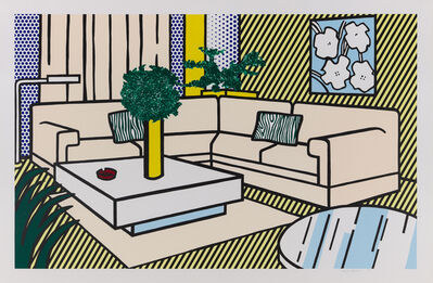 Roy Lichtenstein, 'Yellow Vase', 1990