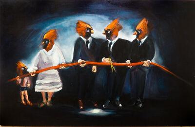 Yassine Balbzioui, 'Red Birds Cut Red Line', 2018