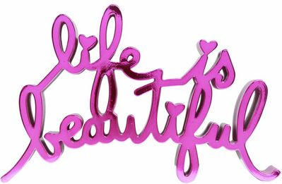 Mr. Brainwash, 'Life is beautiful - Hard Candy Magenta', 2017